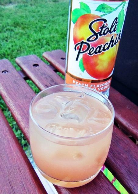Stoli Peach Vodka Seabreeze