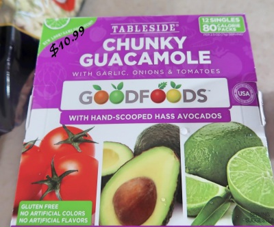 Tableside Chunky Guacamole from Costco