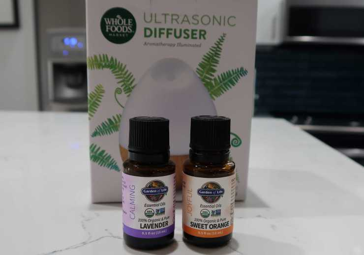 Ultrasonic Diffuser and Garden of Life Essential Oils