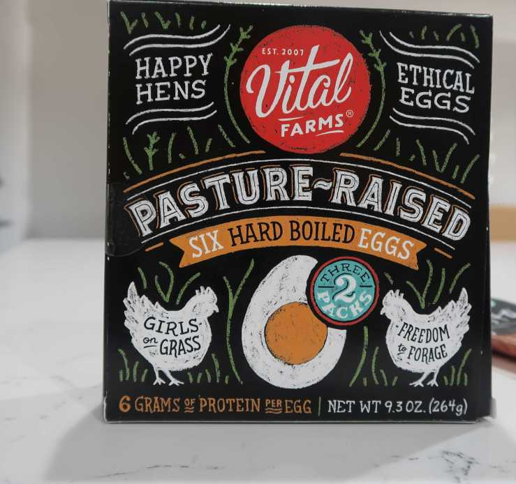 Vital Farms Hard Boiled Eggs Whole Foods $5.99
