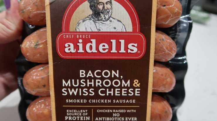 Aidells Bacon Mushroom Swiss Cheese Costco