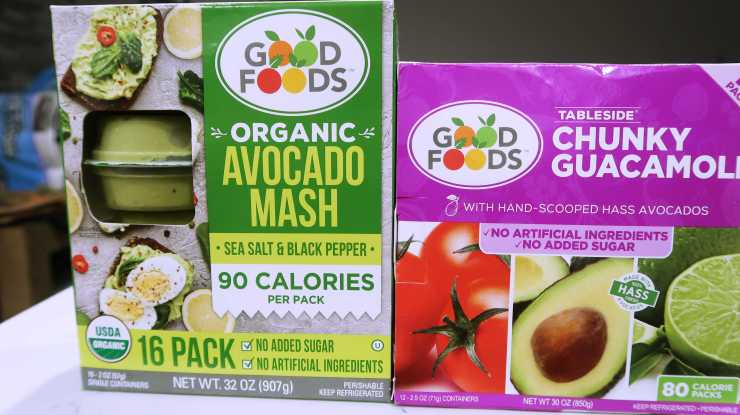 Good Foods Organic Avocado Mash Costco 11.99 Good Foods Chunky Guacamole Costco 10.99